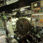 Fourth engineer James with dismantled gearbox