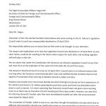 Letter to Mr Hague - page 1