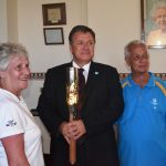 baton with Governor Capes