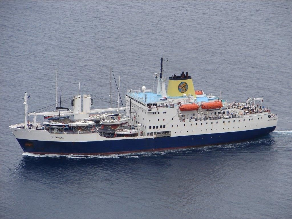 The RMS St Helena: picture by Bruce Salt