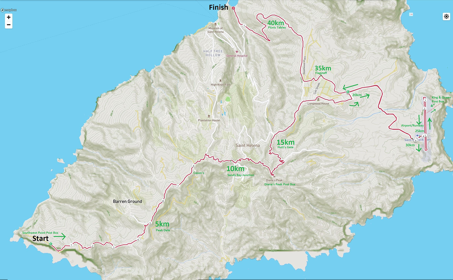 St Helena route