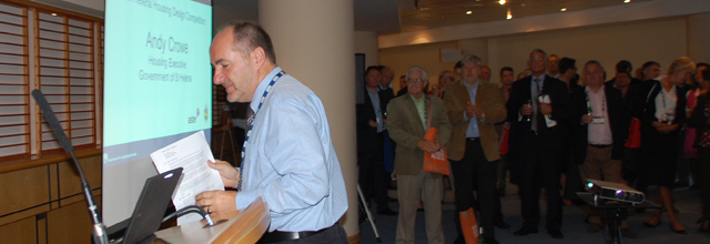 Andy Crowe described St Helena homes at the National Housing Federation conference