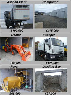 Roads equipment was highlighted in the St Helena Independent