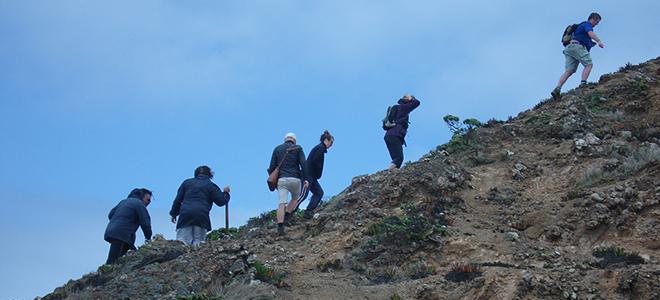 Ebony returning from cliff 660
